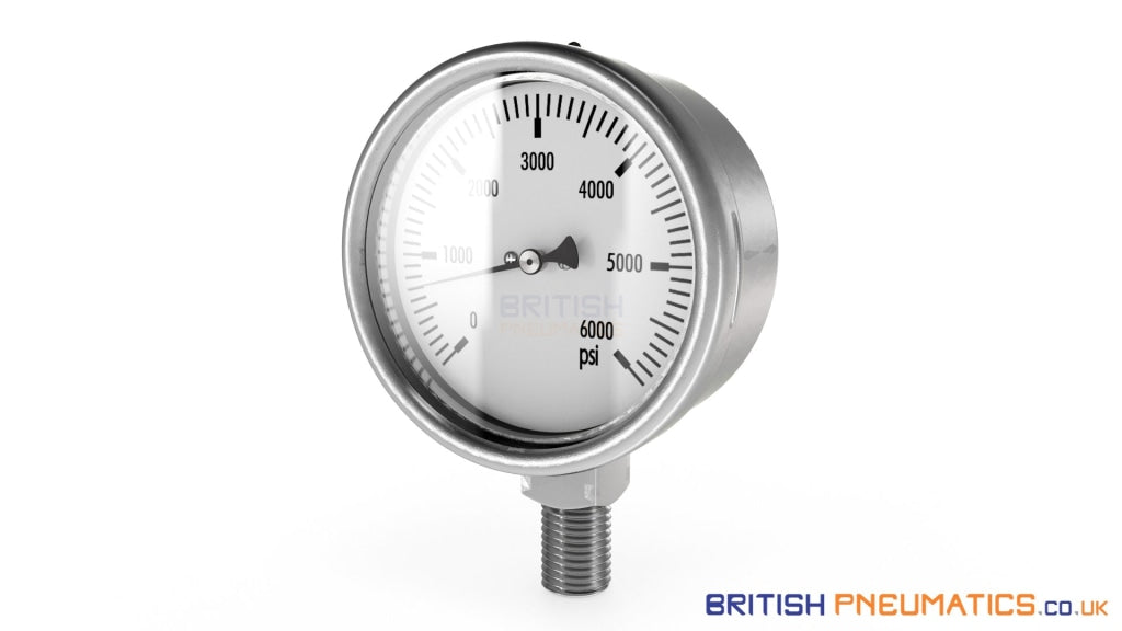 Metal Work ACC.M 63 1/4 12 Pressure Gauge (9900101) - British Pneumatics (Online Wholesale)