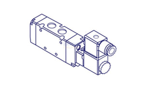 "Metal Work SOV 26 SOS CC Solenoid Valve (7010022100) 1/8"" 5/3 - British Pneumatics (Online Wholesale)"
