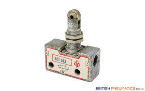 Mindman ACT-103 EPA-103 Roller Plunger Mechanical Valve - British Pneumatics