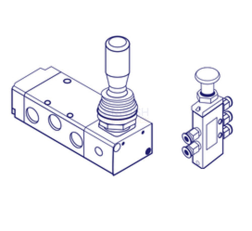 Mindman ACT-104 (EPA-104) Pilot Mechanical Valve - British Pneumatics (Online Wholesale)