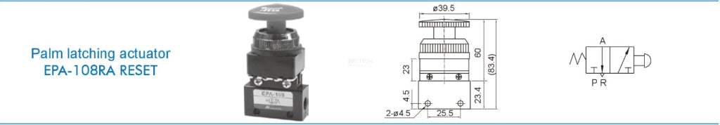 Mindman ACT-108 EPA-108RA RESET Mechanical Valve - British Pneumatics (Online Wholesale)
