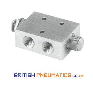 "Mindman MVHA-41PP Hand Valve (Double Push Button) 1/8"" - British Pneumatics (Online Wholesale)"