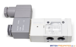 "Mindman MVSC-220-3E1-NC DC24V Solenoid Valve 3/2 1/4"" BSP (Made in Taiwan) - British Pneumatics (Online Wholesale)"