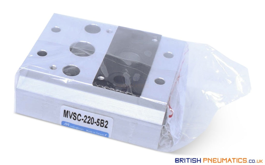 Mindman MVSC-220-5B2 Manifold (for MVSC-220 valves) - British Pneumatics (Online Wholesale)