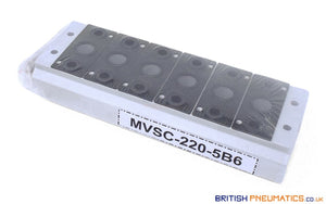Mindman MVSC-220-5B6 Manifold (for MVSC-220 Valves) - British Pneumatics (Online Wholesale)