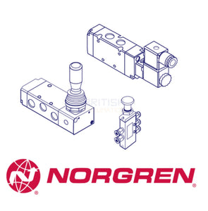 Norgren M/1702/687 Mechanical Valve (Manual Valves 1/4 and 1/2 BSP) - British Pneumatics (Online Wholesale)