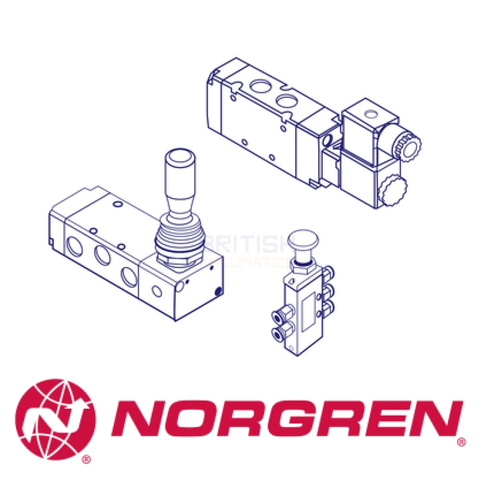 Norgren X3039302 Mechanical Valve (Roller Lever Spring H/Duty 1/8 BSP) - British Pneumatics (Online Wholesale)