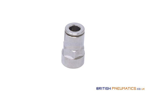 R130618 1/8 To 6Mm Female Stud Push-In Fitting (Nickel Plated Brass) General
