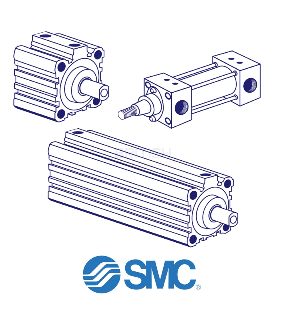 Smc Cq2B200-25Dcm Pneumatic Cylinder General
