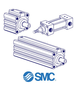 Smc Cq2B40F-25Dm Pneumatic Cylinder General