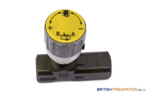 "Tognella 1237/5-01-18 | 1-Way Hydraulic Flow Regulator 1/8"" (Max 210 bar) - British Pneumatics (Online Wholesale)"