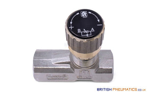 "Tognella 1251/5-01-38 | 1-Way Hydraulic Flow Regulator 3/8"" (Max 210 bar) - British Pneumatics (Online Wholesale)"