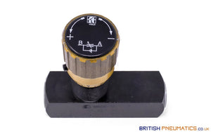 "Tognella 257/5-14 | 1-Way Hydraulic Flow Regulator 1/4"" (Max 400 Bar) - British Pneumatics (Online Wholesale)"
