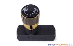 "Tognella 257/5-38 | 1-Way Hydraulic Flow Regulator 3/8"" (Max 400 bar) - British Pneumatics (Online Wholesale)"