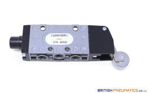 "Univer CM-400A Roller Lever Mechanical Spool Valve, 1/8"" - British Pneumatics (Online Wholesale)"