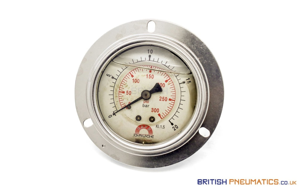 Watson Stainless Steel 25 FA Back Connection Pressure Gauge - British Pneumatics (Online Wholesale)