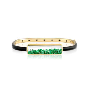 Emerald Shaker Enamel Bangle