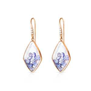 Blue Sapphire Kite Earrings