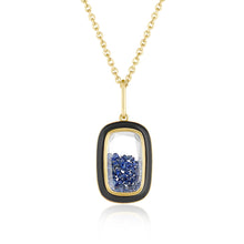 Load image into Gallery viewer, Double Sided Blue Sapphire Pendant