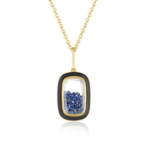 Double-Sided Blue Sapphire Shaker Pendant