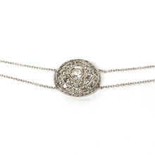 Load image into Gallery viewer, 18k White Gold Necklace with Diamonds