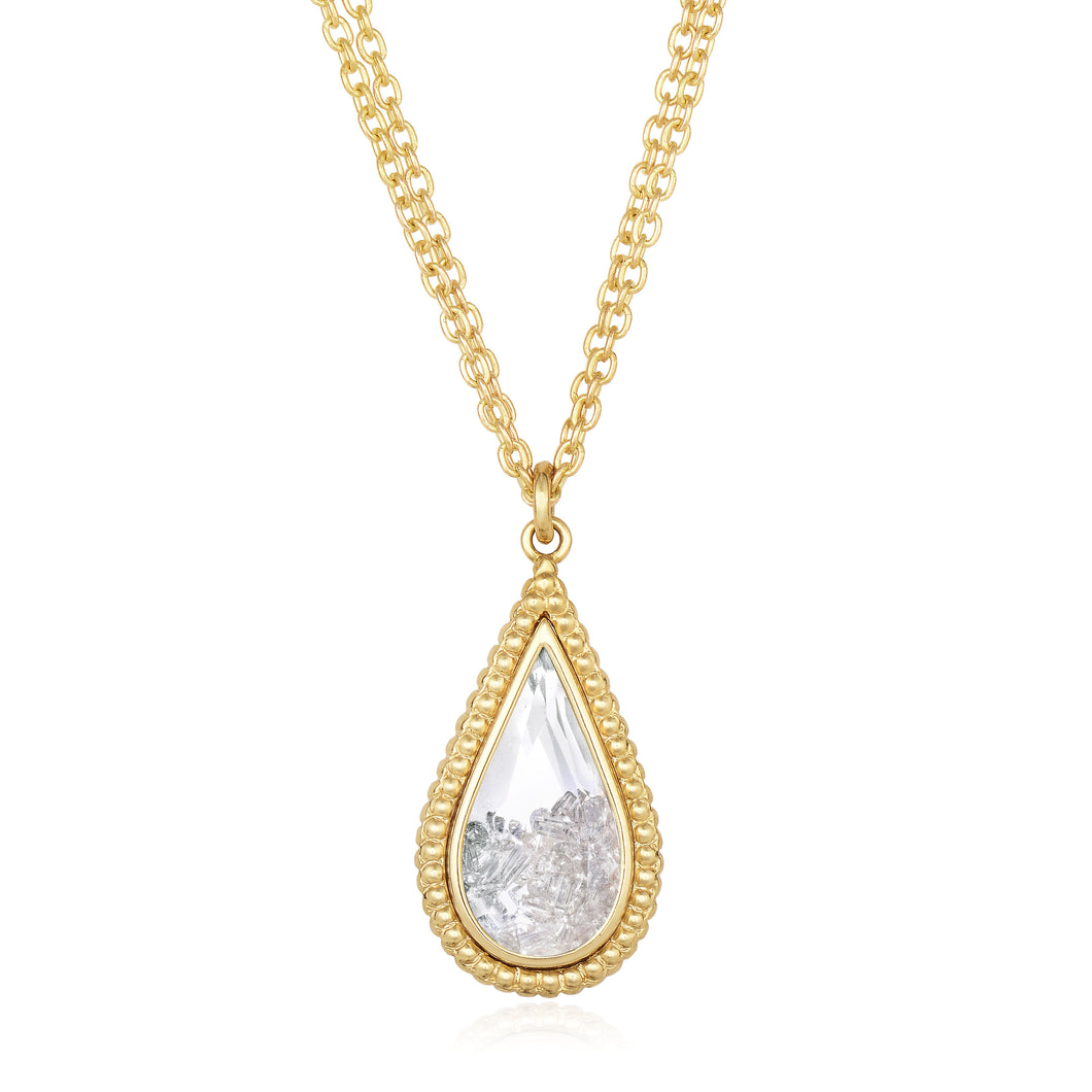 Tear drop Shaped Pendant Necklace