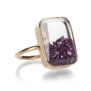 Ten Fourteen Purple Gold Ring