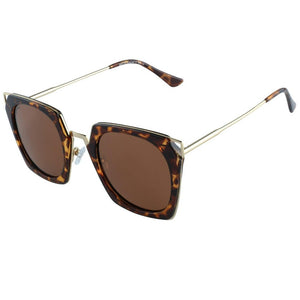 DUCO Classic Vintage Cateye Polarized Sunglasses For Women 100% UV Protection W001