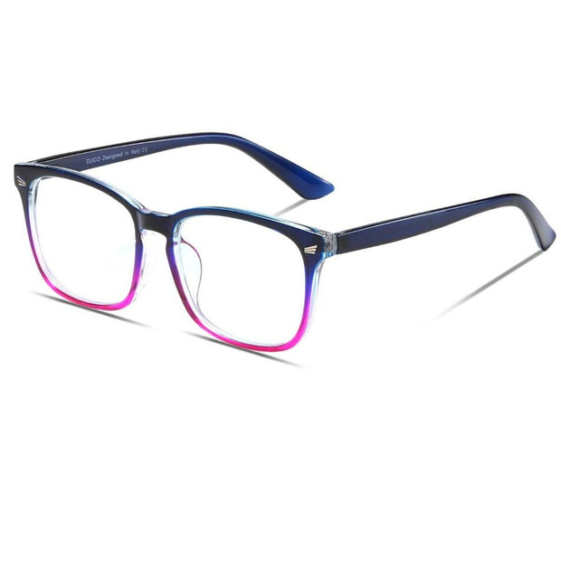 DUCO Round Frame Computer Reading/Gaming/TV/Phones Blue Light Blocking Glasses for Men and Women DC5201