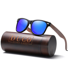Load image into Gallery viewer, DUCO Polarized Driving Eyewear Handmade Wooden Sunglasses for Men and Women 2141
