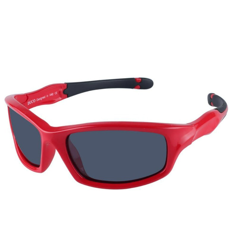 DUCO Kids Sports Style Polarized Sunglasses Flexible Frame For Boys and Girls K006