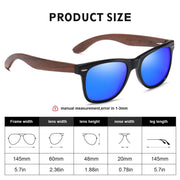 DUCO Polarized Driving Eyewear Handmade Wooden Sunglasses for Men and Women 2141