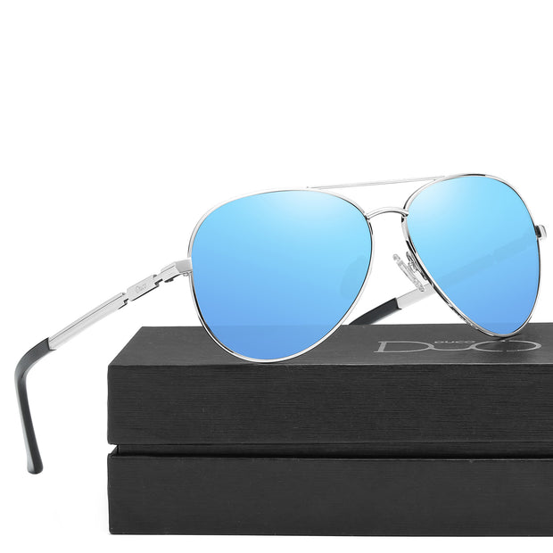 Duco Unisex Classic Retro Pilot Style Polarized Mirrored Sunglasses 3025K