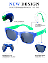 Load image into Gallery viewer, DUCO TPEE Superlight Kids Sport Polarized Sunglasses For Kids Boys Girls Rubber Flexible Frame Sunglasses