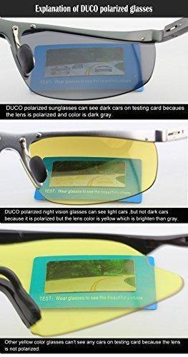 DUCO HD Anti Glare Night-vision Headlight Polarized Al-Mg Metal Frame Glasses for Driving 8125
