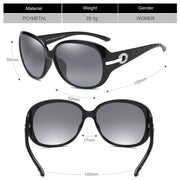 Duco Women's Shades Classic Oversized Polarized Night Vision Sunglasses 100% UV Protection 6214