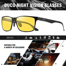 Load image into Gallery viewer, DUCO Carbon Fiber Temple Night-Vision Anti-Glare Driving Glasses 8206