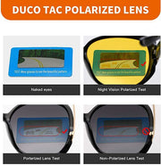 Duco Night Vision Glasses Polarized Wrap Around Prescription Eyewear 8953Y