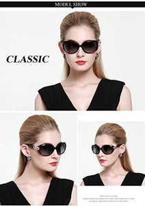 DUCO Shades Classic Oversized Polarized Sunglasses for Women 100% UV Protection 1220