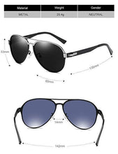 Load image into Gallery viewer, DUCO Pilot Premium Military Style Sunglasses for Men 100% UV Protection Polarized 3028