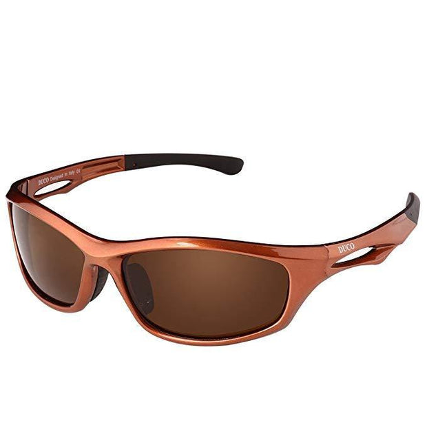 DUCO Polarized Sunglasses for Running Cycling TR90 Unbreakable Frame 6199