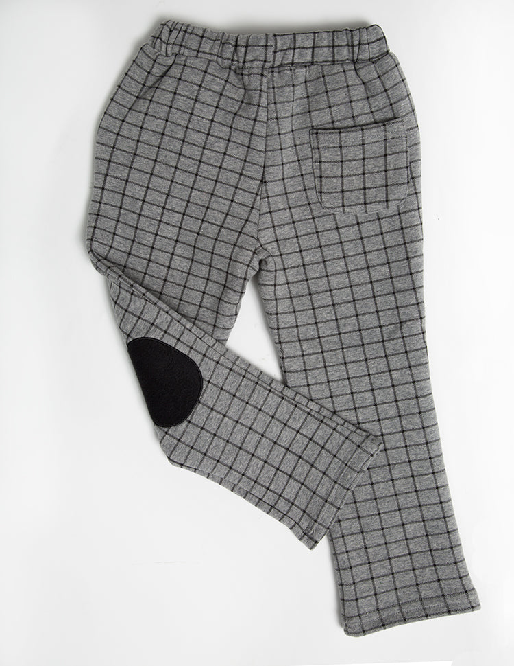 HEATHER GREY KNEE PATCH PANTS