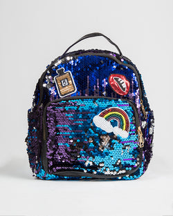 RAINBOW & PERFUME SEQUIN BACKPACK