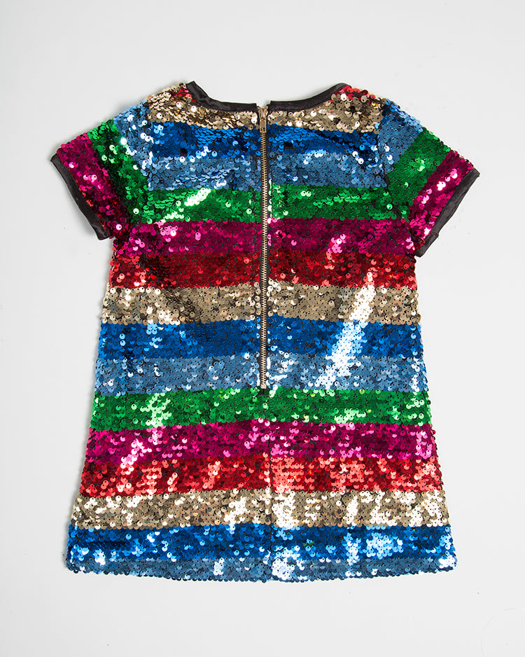 RAINBOW SEQUIN DRESS