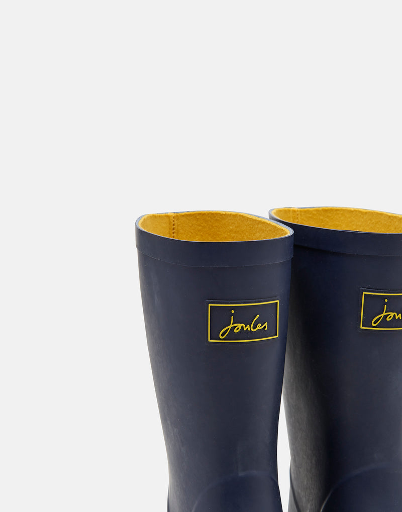 NAVY ROLL UP RAIN BOOTS