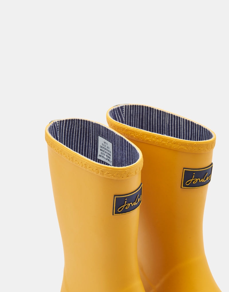 YELLOW ROLL UP RAIN BOOTS