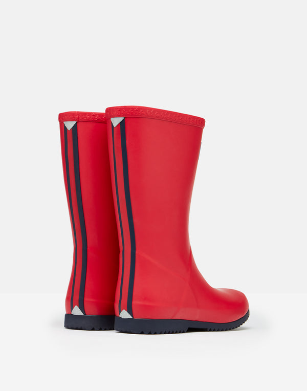 RED ROLL UP RAIN BOOTS