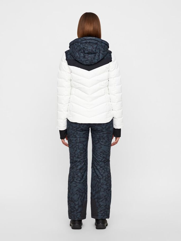 J.LINDEBERG Russel Down Jacket Icelayers Print White