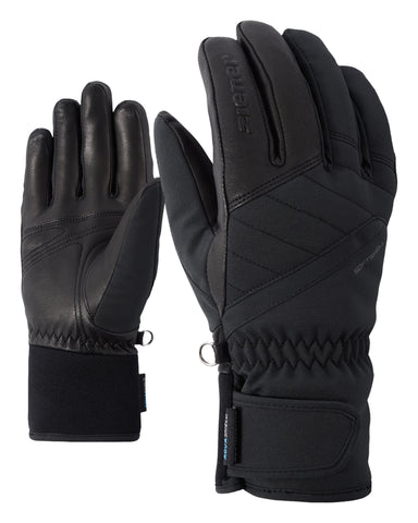 ZIENER Kasada Ski Leather Palm Glove Black