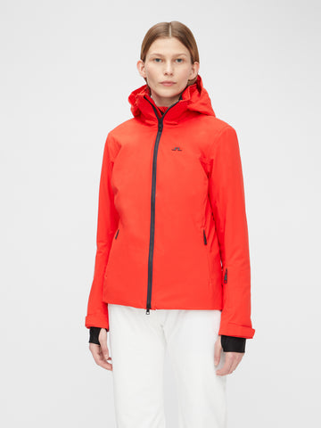 J.LINDEBERG Tracy Primaloft Jacket Racing Red